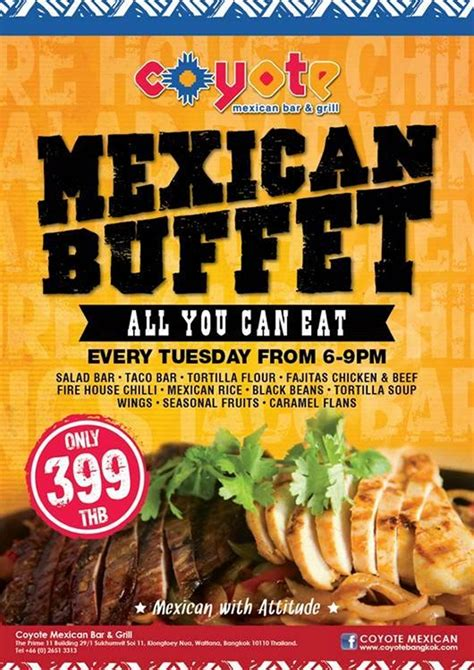 all you can eat mexican buffet coyote mexican buffet is back stickboy bangkok