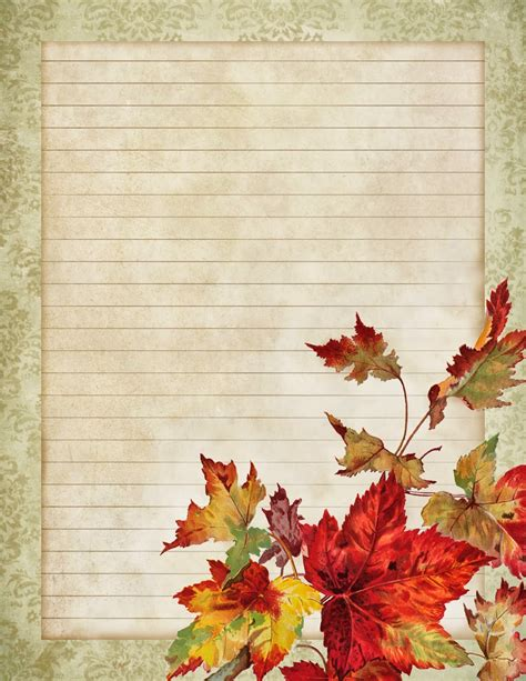 printable fall stationery paper lilac lavender in dreamful autumn
