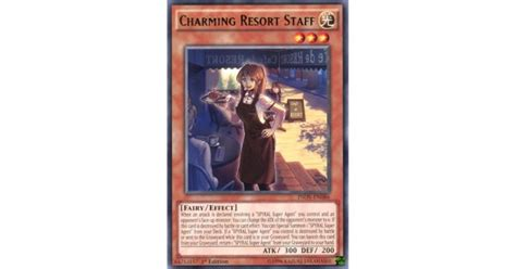 Charming Resort Staff Inov En086 charming resort staff inov en086 unlimited edition yu gi oh card