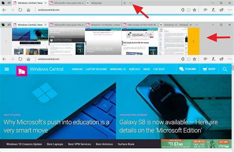 update layout preview button how to manage tabs on microsoft edge on the windows 10