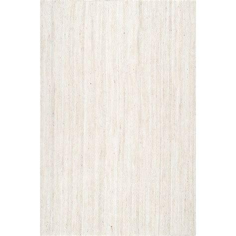 10 Ft Jute Rug - nuloom rigo jute white 10 ft x 14 ft area rug