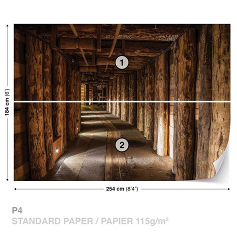 wood wall mural wall mural photo wallpaper wood tunnel mine 1962ws ebay