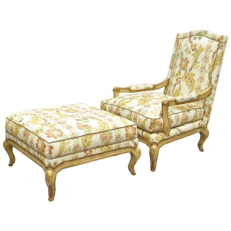 french bergere chair and ottoman nancy corzine country french louis xv style bergere lounge