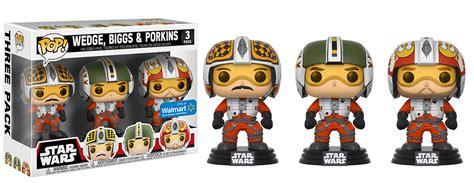 bobble 3 pack new wars funko pop x wing pilots bobble 3