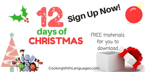 12 Days Of Christmas Giveaway - 12 days of christmas spanish and english giveaways