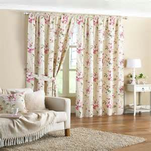 Floral Lined Curtains Floral Print Pencil Pleat Lined Curtains 90 X 90 Inch Ebay