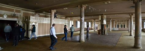 wide view ballroom with pillars those who wander