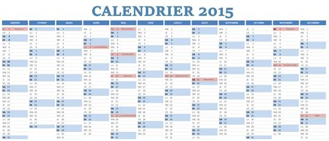 Calendrier Jours Adolphe Sax Jours F 233 Ri 233 S 2015