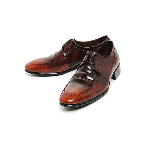 s oxford dress shoes mens real leather punching oxfords dress shoes