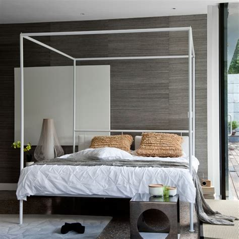 modern four poster bed grey bedroom with modern white four poster bed 20