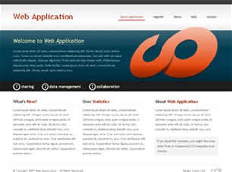 Web Application Free Website Template Free Css Templates Free Css Free Web Application Templates With Css