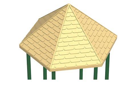plastic hexagonal peak roof