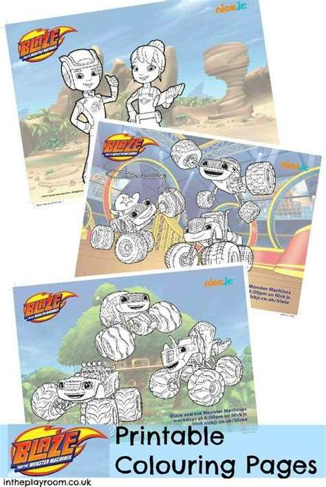 nick jr new year coloring pages blaze and the machines colouring pages and