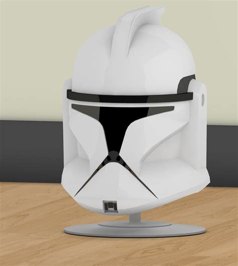 How To Make A Clone Trooper Helmet Out Of Paper - episode ii clone trooper helmet 2nd render by jtm1997 on