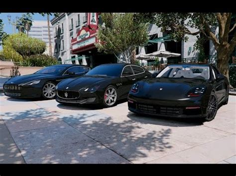 Porsche Panamera Vs Maserati Quattroporte by Gta V Porsche Panamera 4s 2017 Vs Aston Martin Rapide