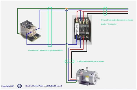 how to wire a 240v air compressor pressure switch wiring
