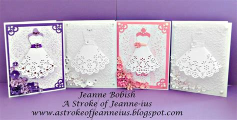 Handmade Cards Tutorials - a stroke of jeanne ius beautiful handmade paper dress