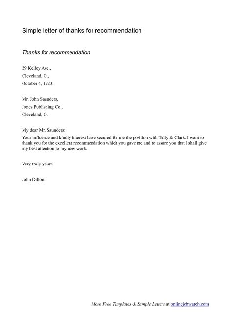recommendation letter for job letters of recommendation for