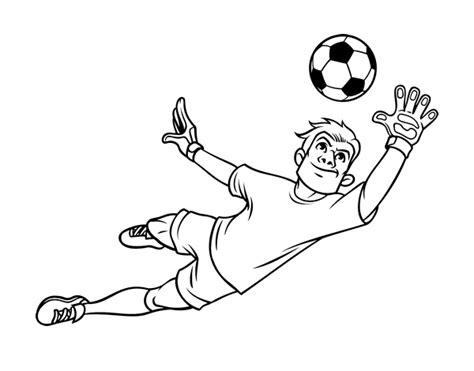 giochi di calcio portiere italiano disegno di il portiere di calcio da colorare acolore
