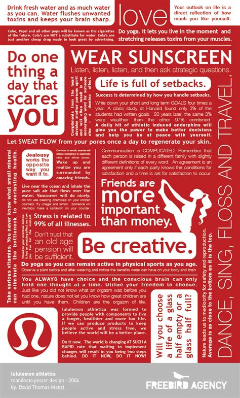 the career manifesto discover your calling and create an extraordinary books lululemon manifesto poster design 10th anniversary