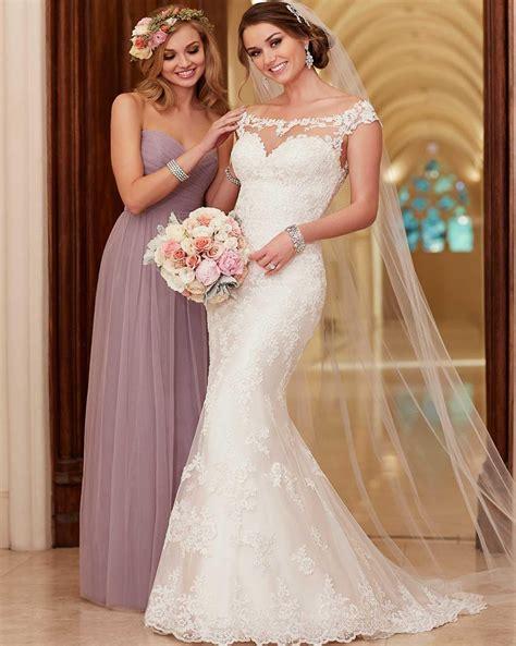 aliexpress wedding 2016 stella york wedding dresses scoop neck appliqued lace