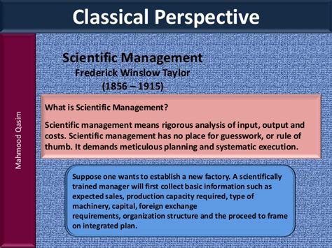 Knowledge Management Notes For Mba Students by Mahmood Qasim Slides History Of Management For Bba And Mba