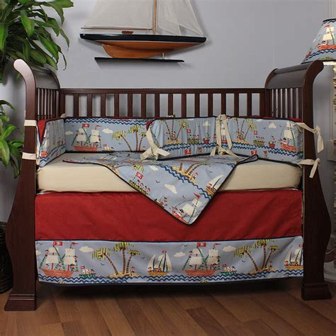 hoohobbers ahoy pirate crib bedding