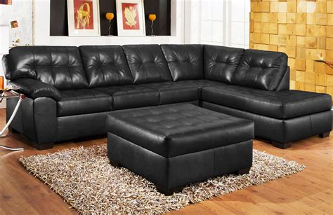 small black sectional small black leather sectional sofa black leather small