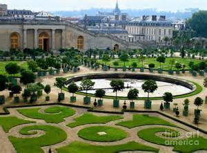 chateau de versailles garden in print by