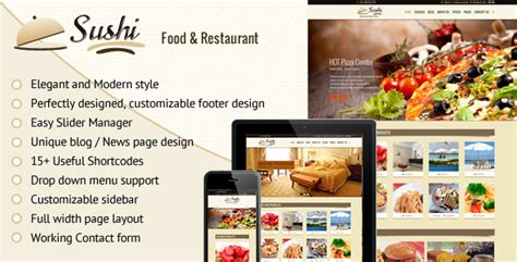 shopify grocery themes sushi food restaurant shopify theme by buddhathemes