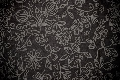 pattern black fabric black fabric with floral pattern texture picture free