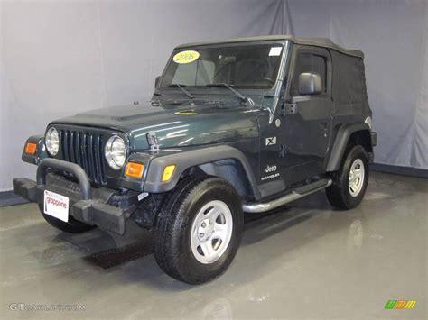 2006 green jeep 2006 deep beryl green pearl jeep wrangler x 4x4 24753454