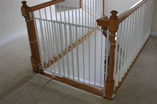 baby gate stairs banister installing a baby gate without drilling into a banister