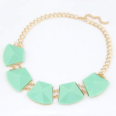 Set Kalung Anting Korean Fashion Multilayer Design Studs Earring Necklace Jewelry Set Green doggie light green luxury style asujewelry