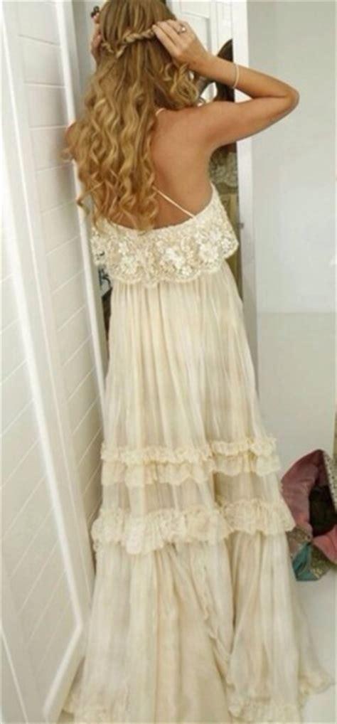 Dress: hippie, boho, vintage, lace dress, gypsy, wedding