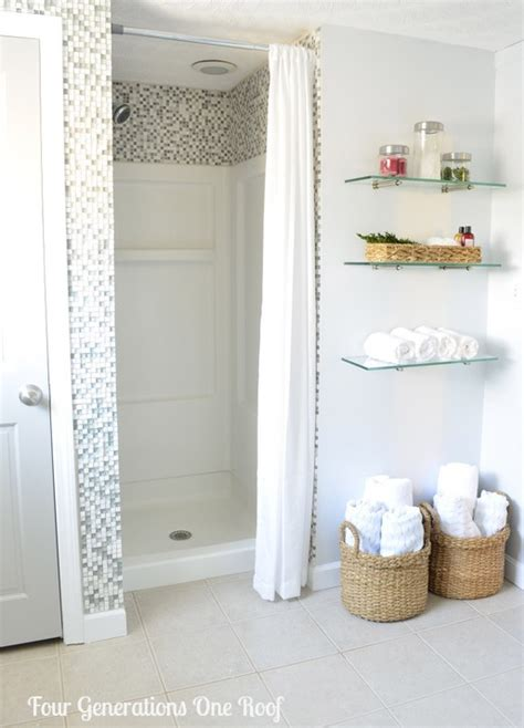 diy bathroom shower ideas diy bathroom renovation reveal budget bathroom shower inserts and budgeting