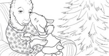 llama llama gives a kiss and gets a hug coloring page