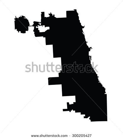chicago map silhouette chicago city map vector map isolated on white background