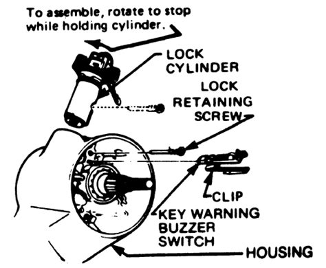 removing door lock cylinder 1989 chevrolet corvette repair guides steering ignition lock cylinder