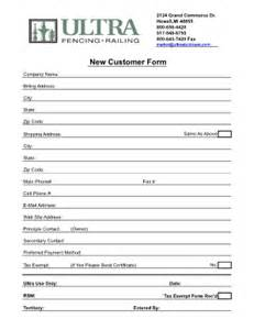 customer information form fill online printable