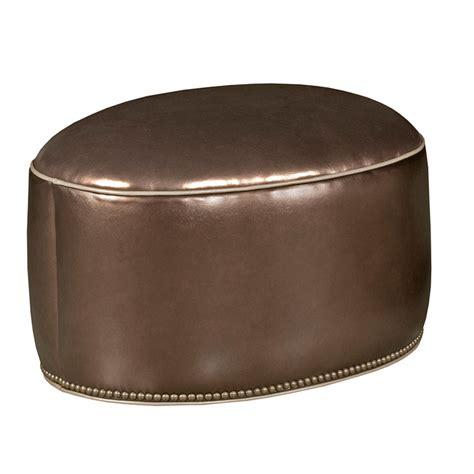 oval leather ottoman our house 733c o oval ottoman ohio hardwood furniture