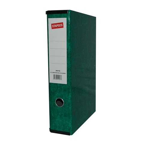 Box File Jumbo Yushinca 105cm staples laminated box file foolscap 65mm green staples 174