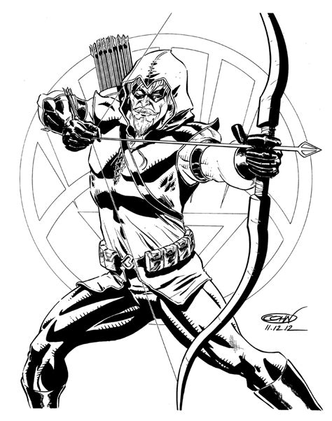 Green Arrow And 6 5 Colouring Pages Green Arrow Coloring Pages