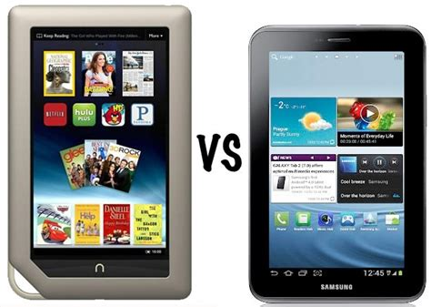 Tablet Samsung Vs nook tablet vs samsung galaxy tab 2 7 0