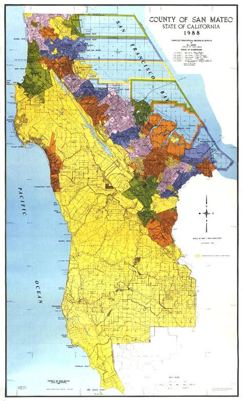 san mateo county map san mateo california mappery