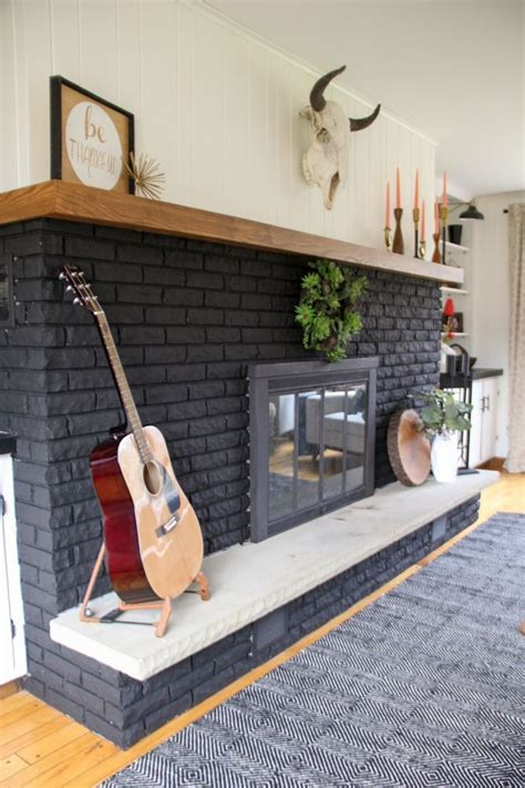 painted fireplace our black painted fireplace black brick fireplace paint