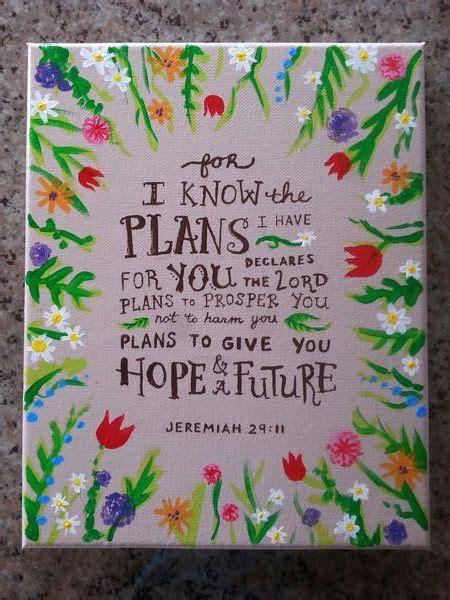 jeremiah  bible verse flowers painted  canvas
