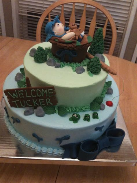 Fishing Baby Shower by Fishing Baby Shower Cake Cakecentral