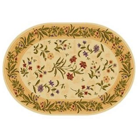 area rug liquidation summer flowers beige multicolor floral 8 x 11 oval area rug liquidation sale ebay