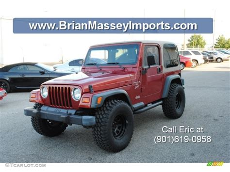 1999 chili pepper pearlcoat jeep wrangler sport 4x4 71688342 gtcarlot car color
